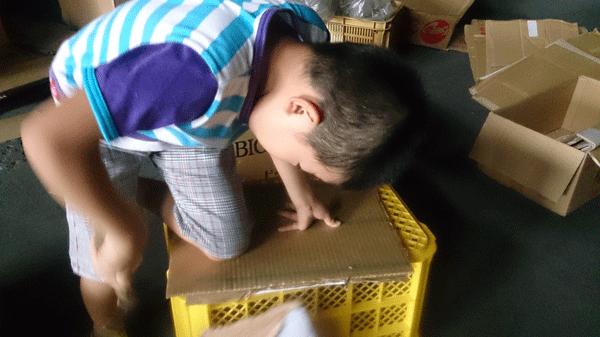 瓦屋の子供のお手伝い